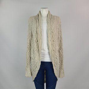 Versona Cream Knit High Low Cardigan Size L